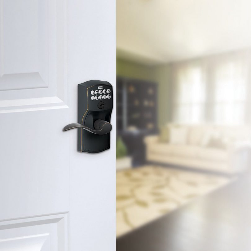 Schlage FE595 CAM 716 Acc Camelot Keypad Entry with Flex-Lock and Accent Levers
