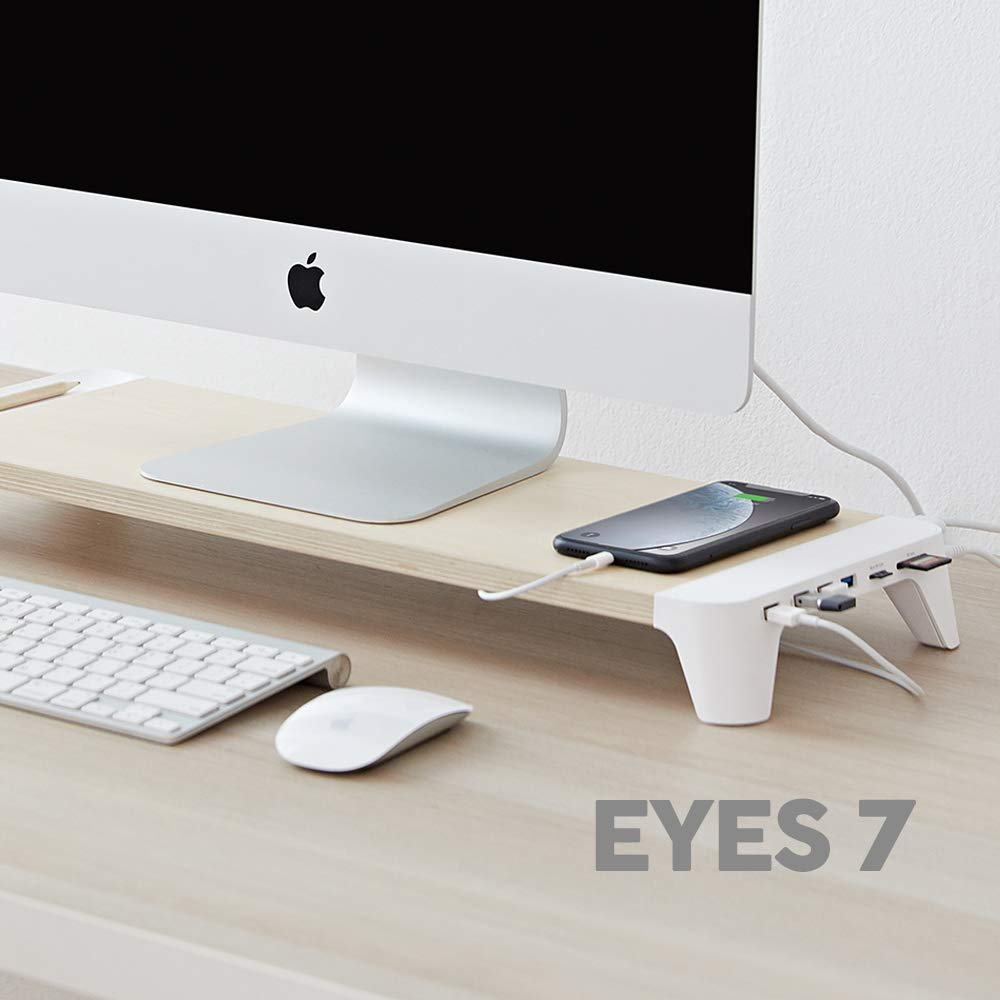 POUT EYES7 Wooden Desk Monitor Computer Stand
