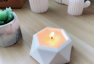 Diamond Concrete Candleholder
