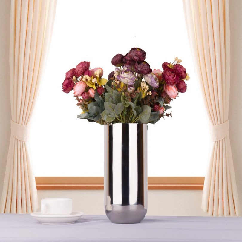 IMEEA Flower Vase Decorative Centerpiece for Home or Wedding SUS304 Stainless Steel