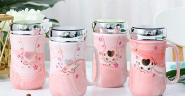 Cute pink mug
