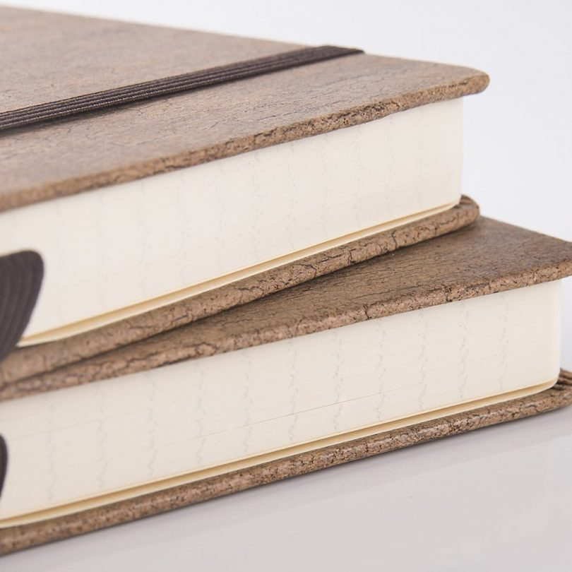 Eco-Friendly Natural Cork Hardcover Writing Notebook with Pen Loop