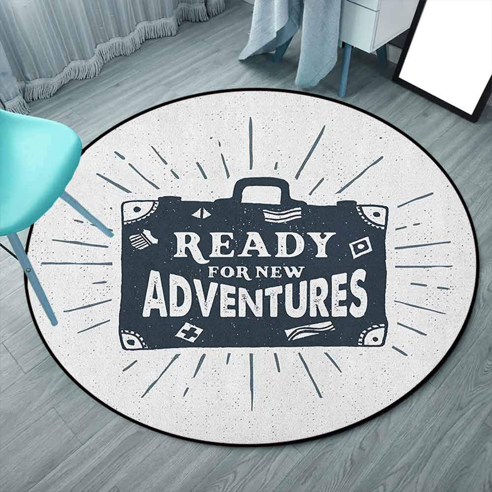 Ready for New Adventures Briefcase Traveling Journey Themed Design Work of Art Print