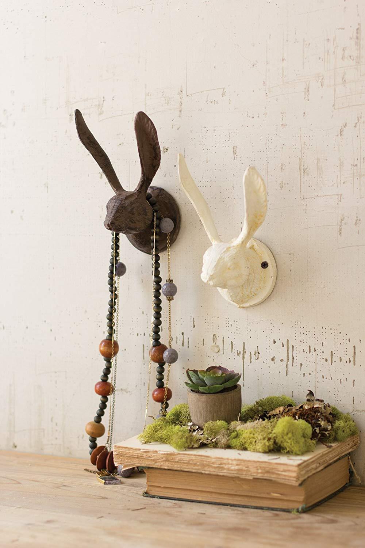 Kalalou Rustic Cast Iron Rabbit Wall Hook