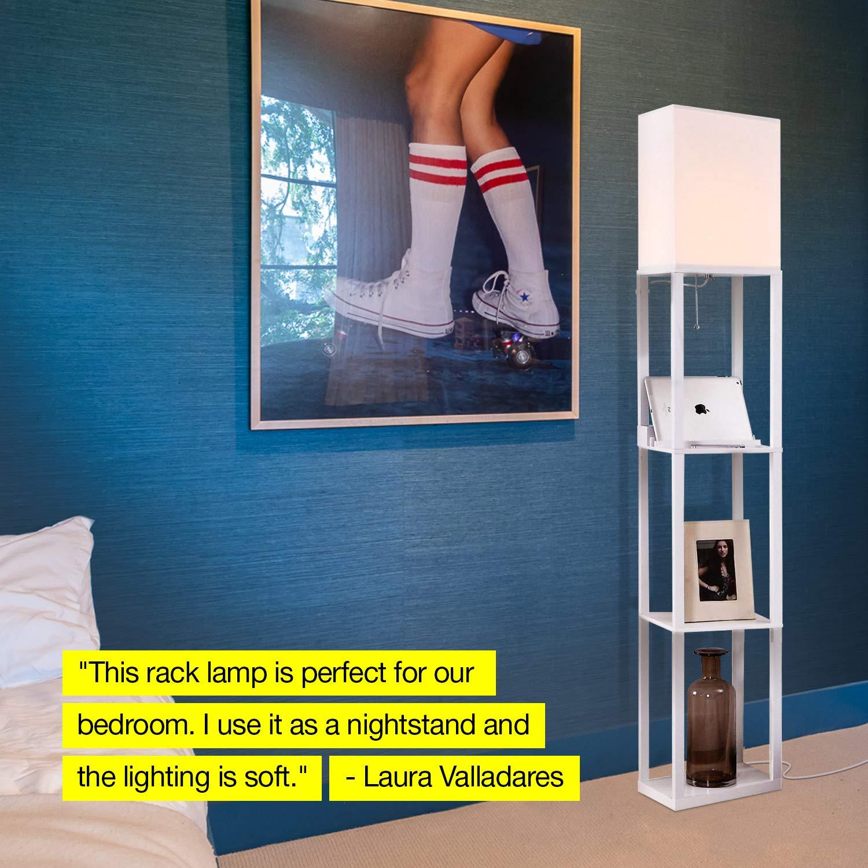 Brightech Maxwell Charging Edition – LED Shelf Floor Lamp