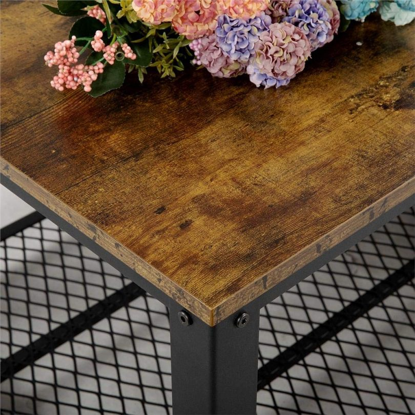 Yaheetech Industrial Coffee Table with Storage Shelf