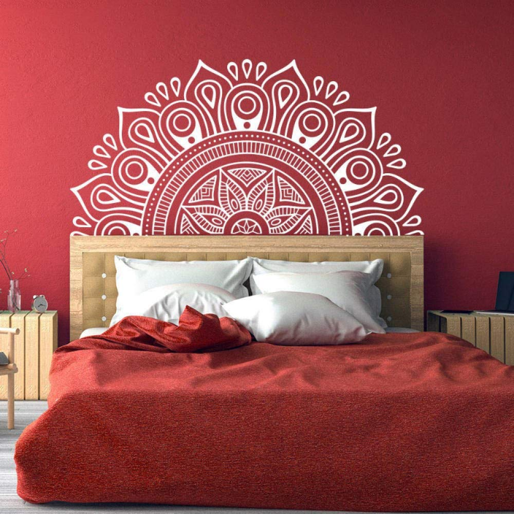 huaxiazu Headboard Wall Decal Lotus Decorative Applique