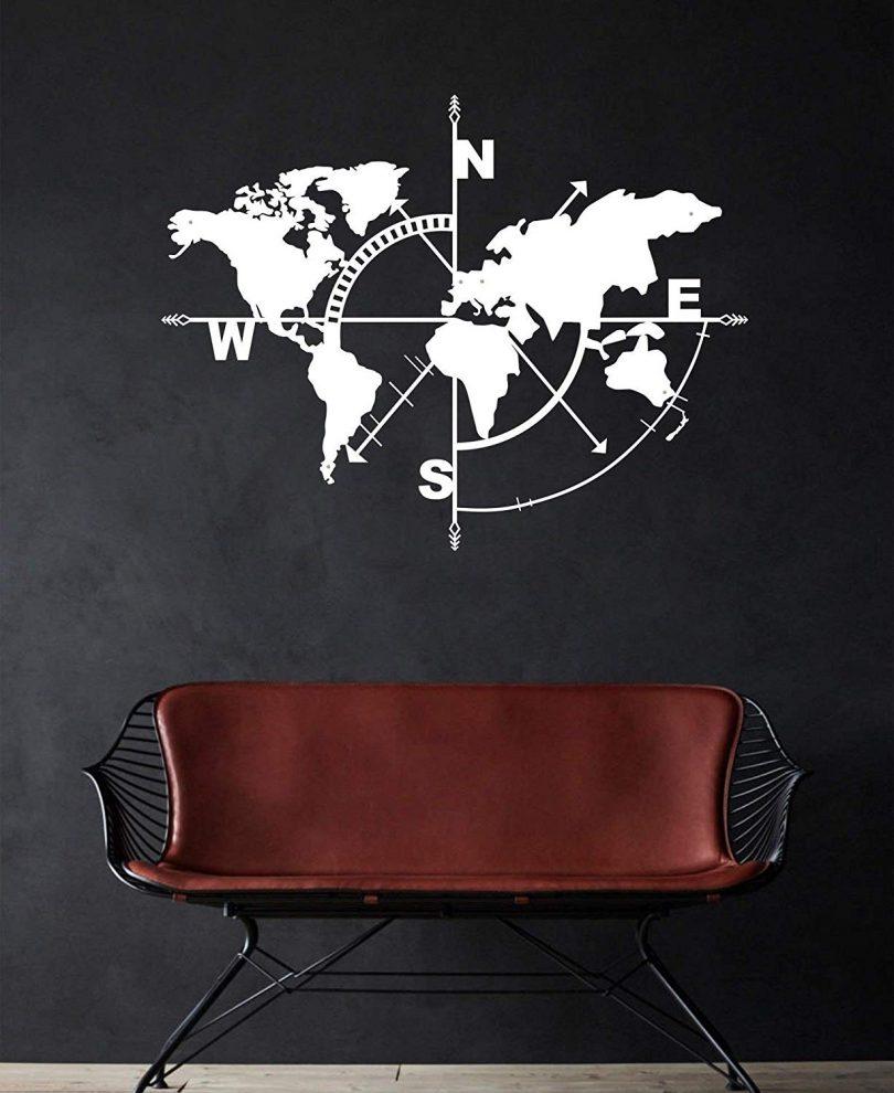 DEKADRON Metal World Map