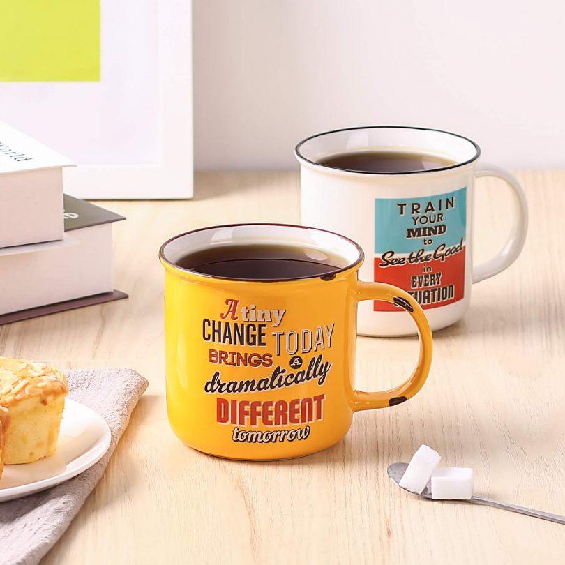 LIFVER 18 Ounces Coffee Mugs