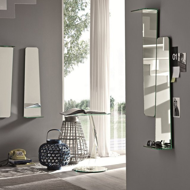 Tag Wall Mirror with Shelf