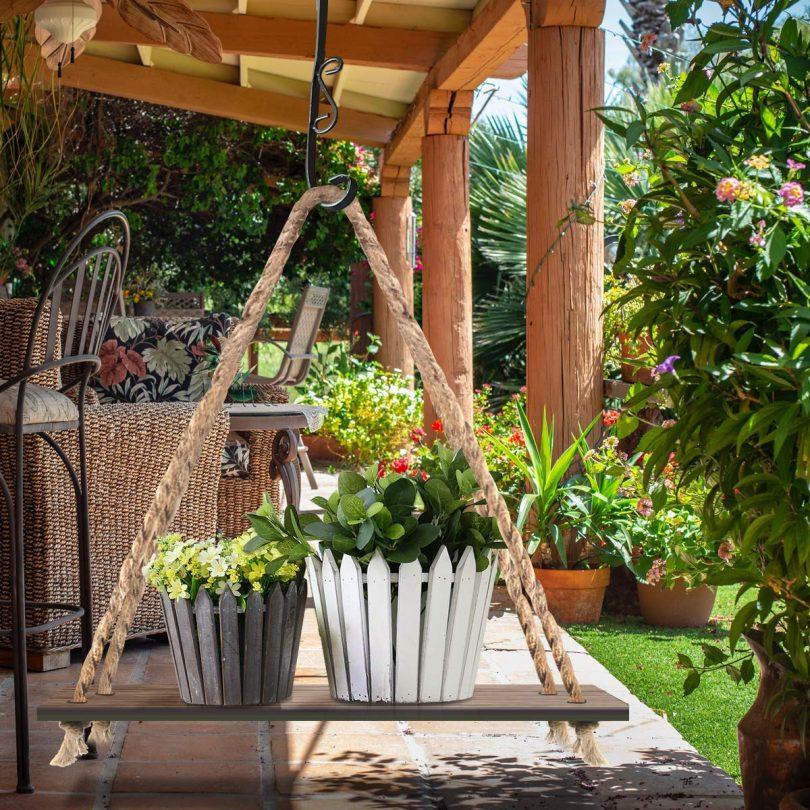 Plaviya Decorative Hanging Plant Shelf