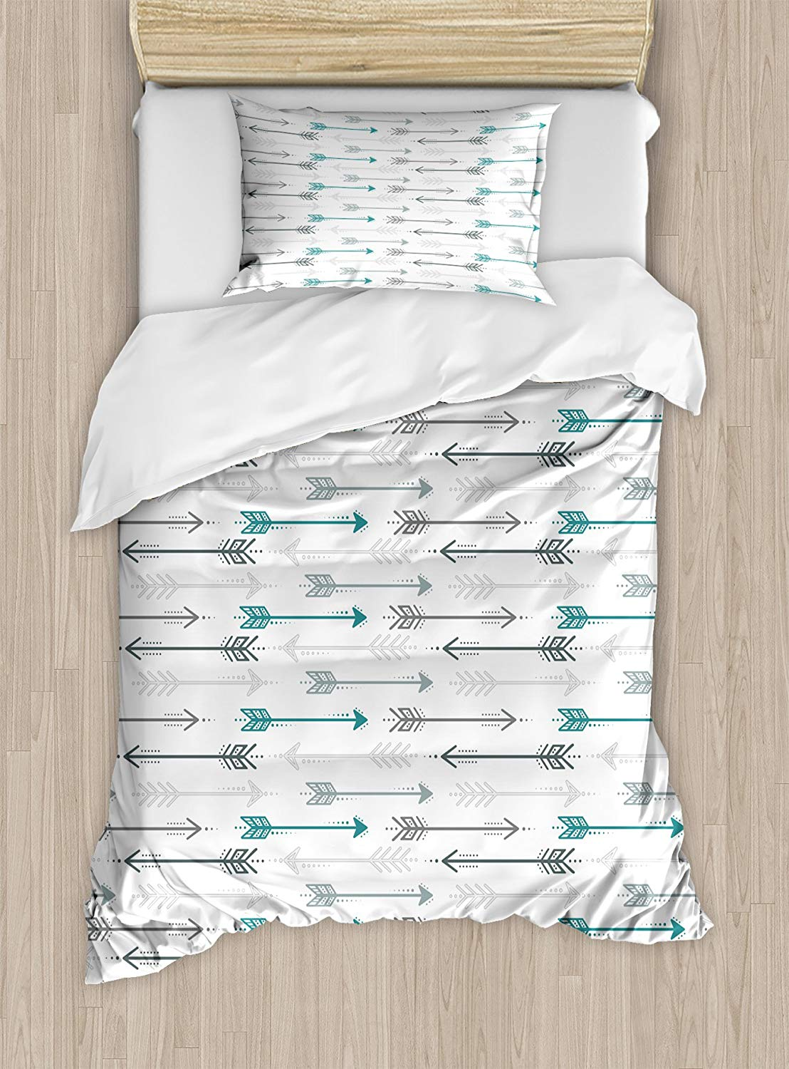 Ambesonne Teal Duvet Cover Set