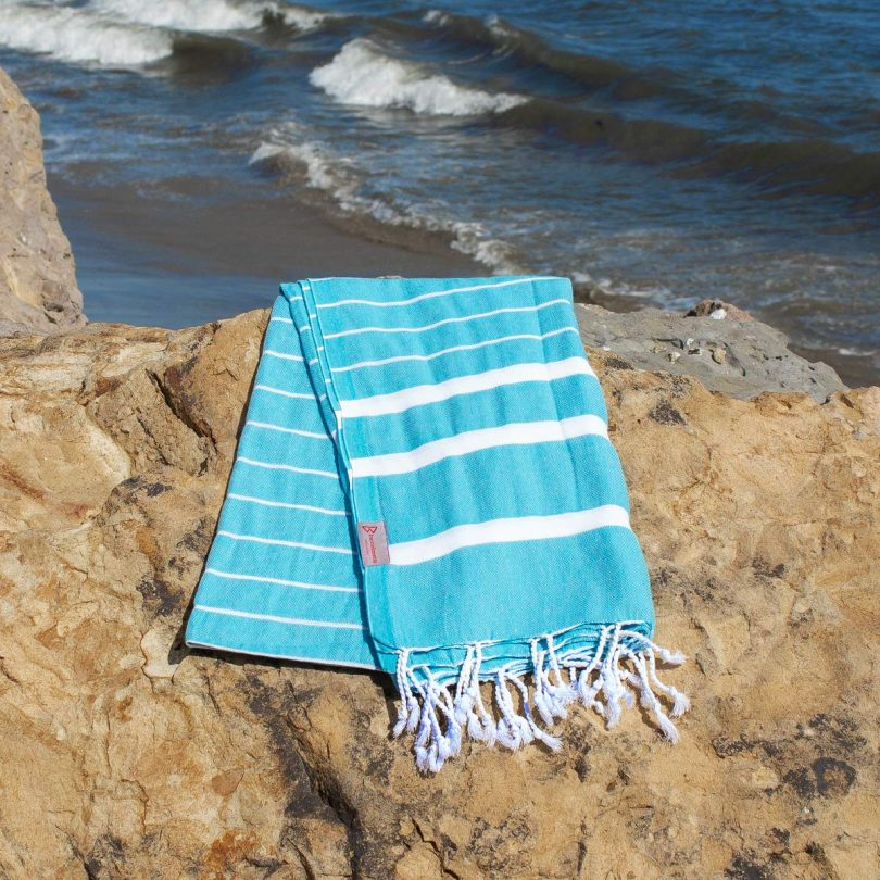 Authentic Turkish Towel – Turquoise