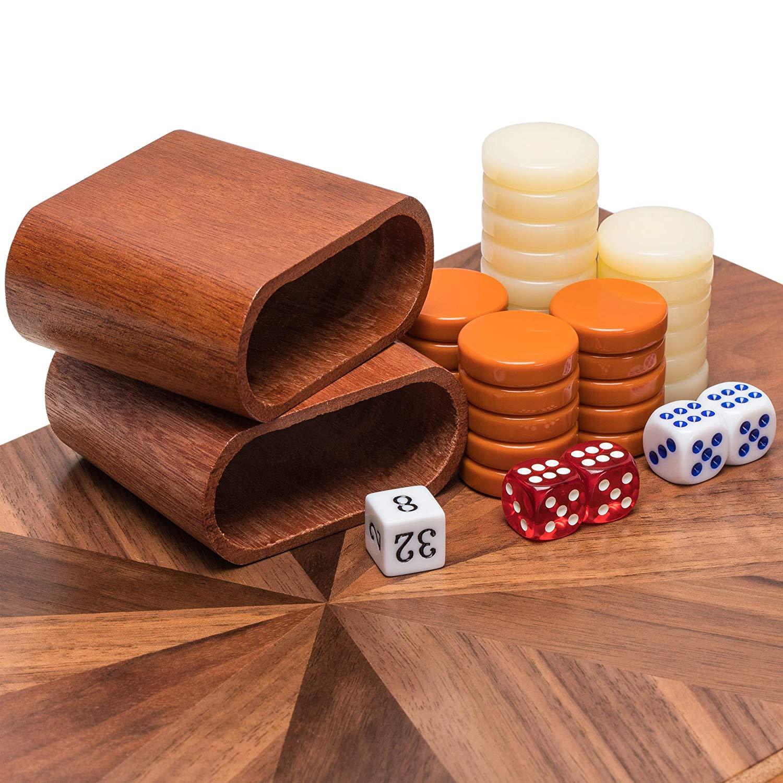 Yellow Mountain Imports Backgammon Game Set
