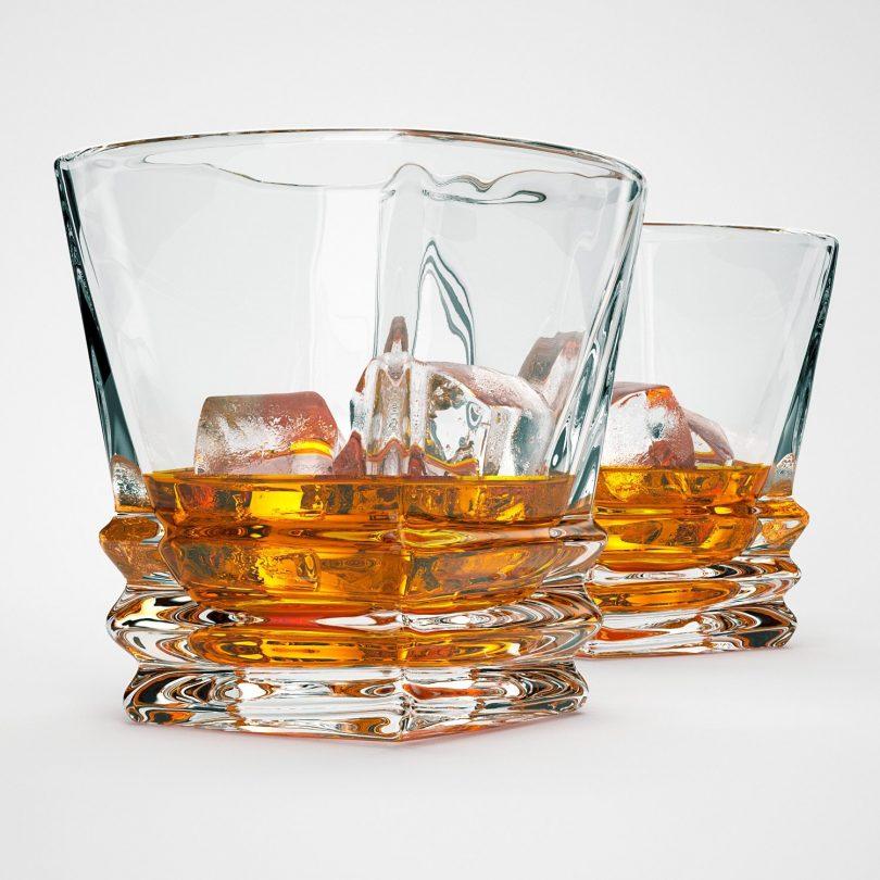 Premium Quality Art Deco Whiskey Glasses