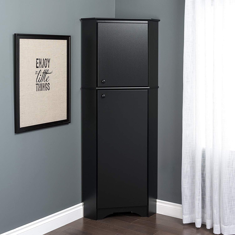 Prepac BSCC-0605-1 Corner Storage Cabinet Elite Tall 2-Door