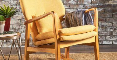 Christopher Knight Home 302101 Balen Mid Century Modern Fabric Rocking Chair