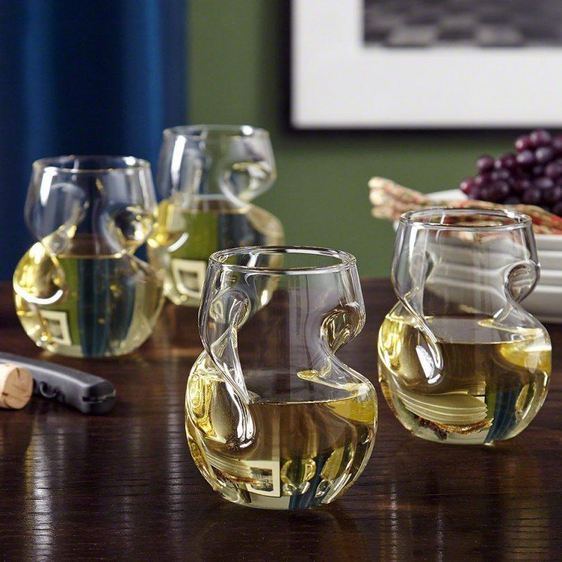Modena Sculpted Wine Glass Set