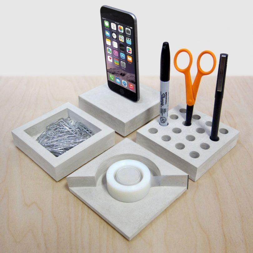 SLABS Concrete Modular Desk Set