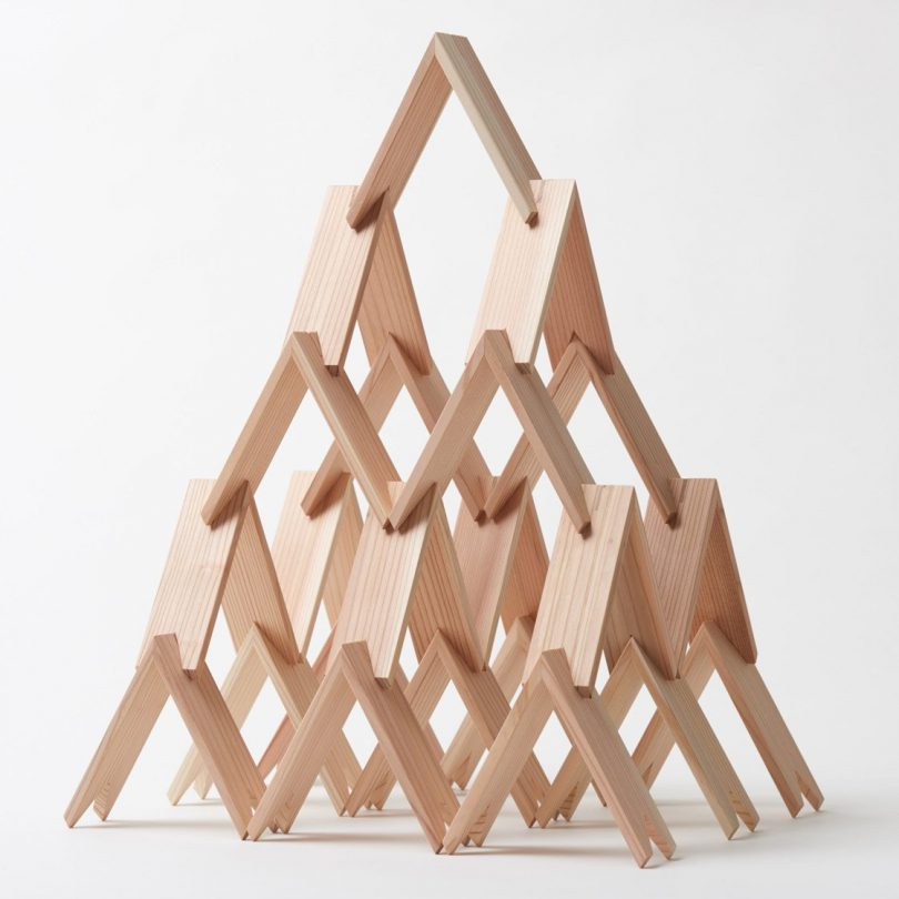 Tsukimi Cedar Building Blocks by Kengo Kuma