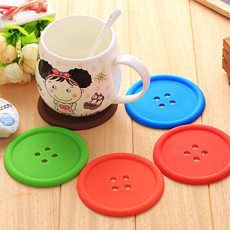 Silicone Button Coasters