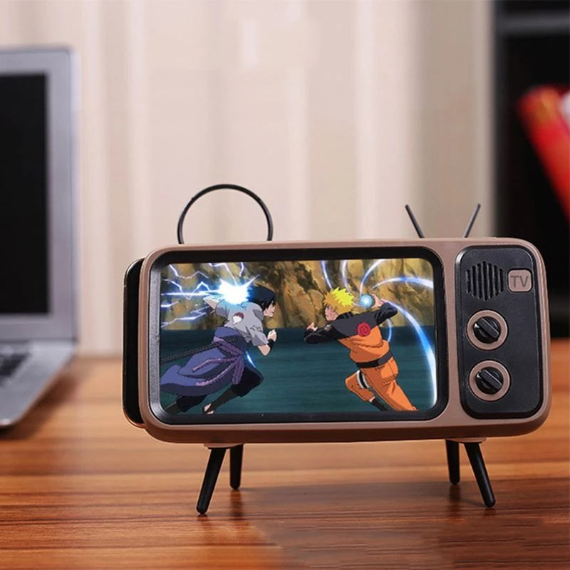 Mini Speaker Retro TV Phone Holder