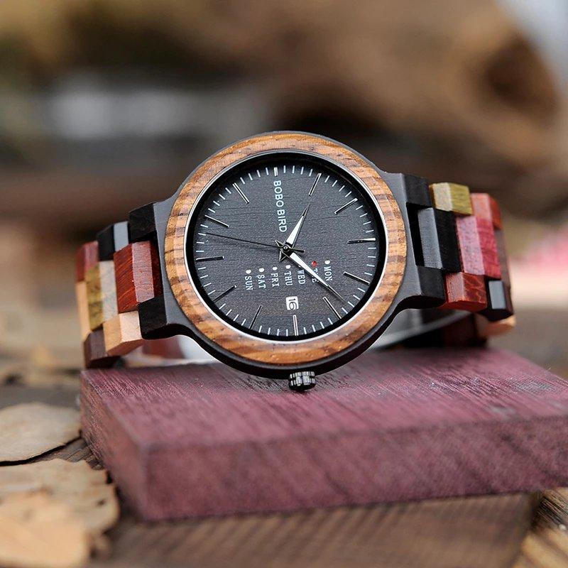 Handmade Wood Colorful Watch