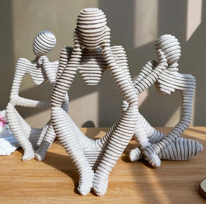 Creative European Thinking Character Sculpture Home Decoration