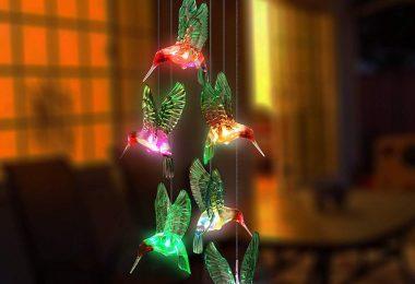 Led Solar Powered Hummingbird Festival Decor