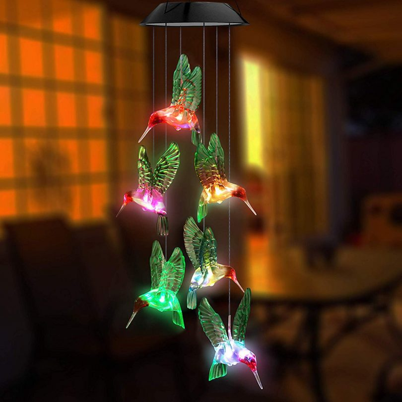 Led Solar Powered Hummingbird Festival Decor