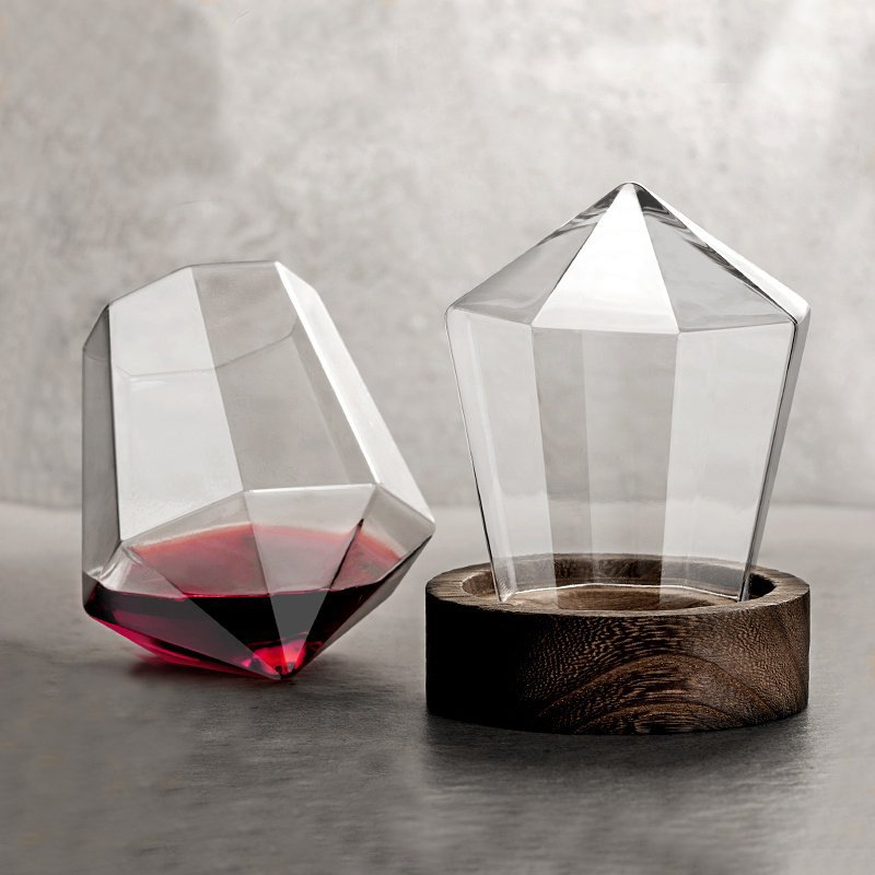Crystal Glass Diamond Cutting Whiskey cup