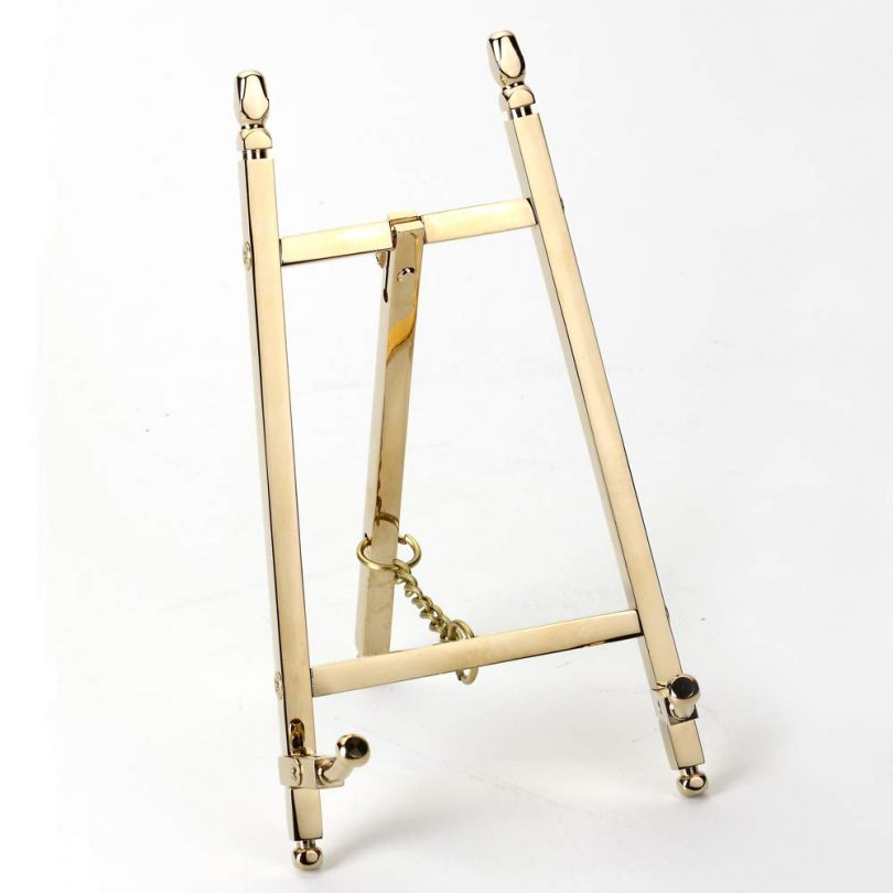 malleable Table Top Easel,Brass Plate Stands for Display