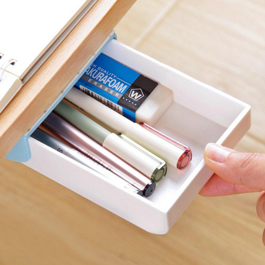 Nakimo Drawer Pencil Tray Self-Adhesive Pop-Up Hidden Desktop Organizer