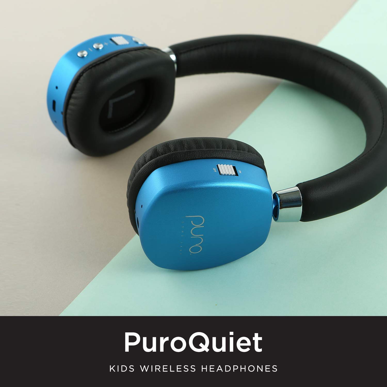 Puro Sound Labs PuroQuiet Kids Volume-Limiting Noise-Cancelling On-Ear Wireless Headphones