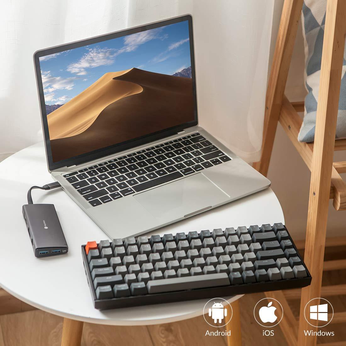 Keychron K2 Bluetooth Wireless Mechanical Keyboard with Gateron Brown Switch