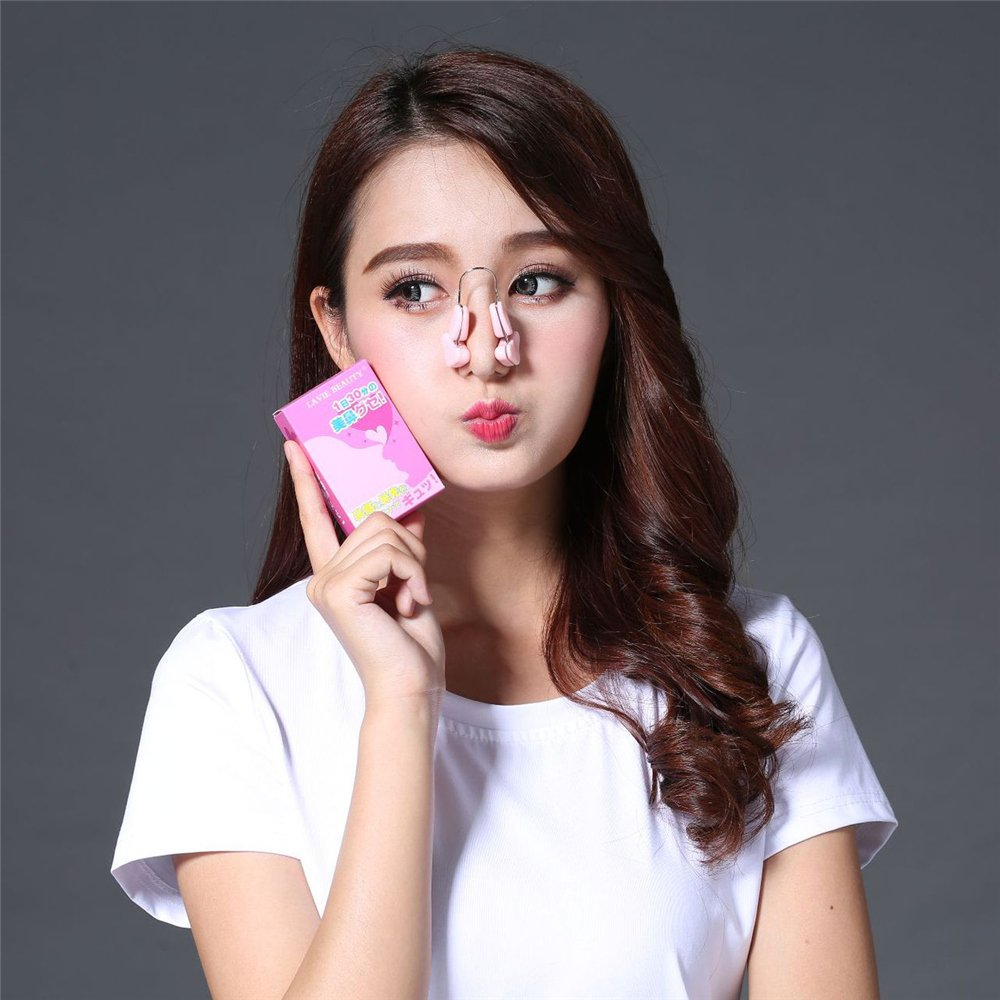 MMRM Nose Up Lifting Shaping Metal Silicone Beauty Clip Nose Bridge Straightener Straightening Tool Transparent