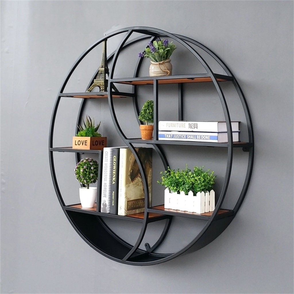 Lil Round Wall Mounted Shelves Wall Mount Retro Four Tier