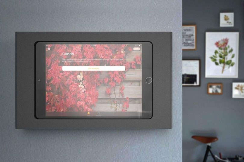 Heckler Windfall Wall Mount Secure Tablet Enclosure with PoE Texas' Power and Wired Data Adapter