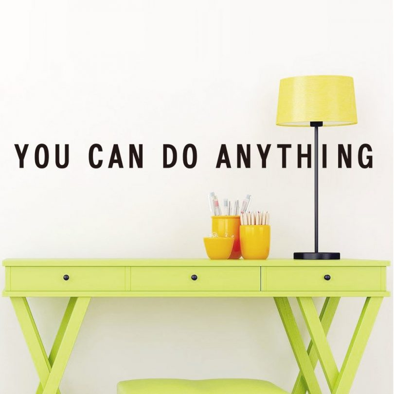 Motivational Quote Wall Decal: Inspirational Saying Adhesive Wall Sticker Decals Art Quality Vinyl