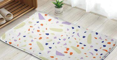 Terrazzo Geometric Texture Colorful Confetti Personalized Custom Doormat