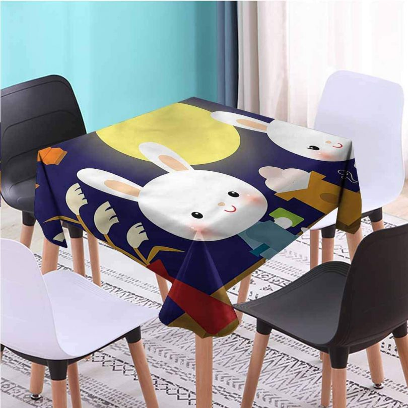 Zara Henry Design Anime Cart Square Table Cloth