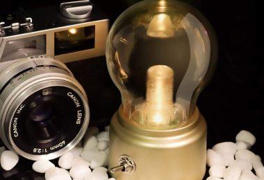 ZXF ABS+ Glass Bulb Shape LED Retro Nostalgic USB Rechargeable Battery