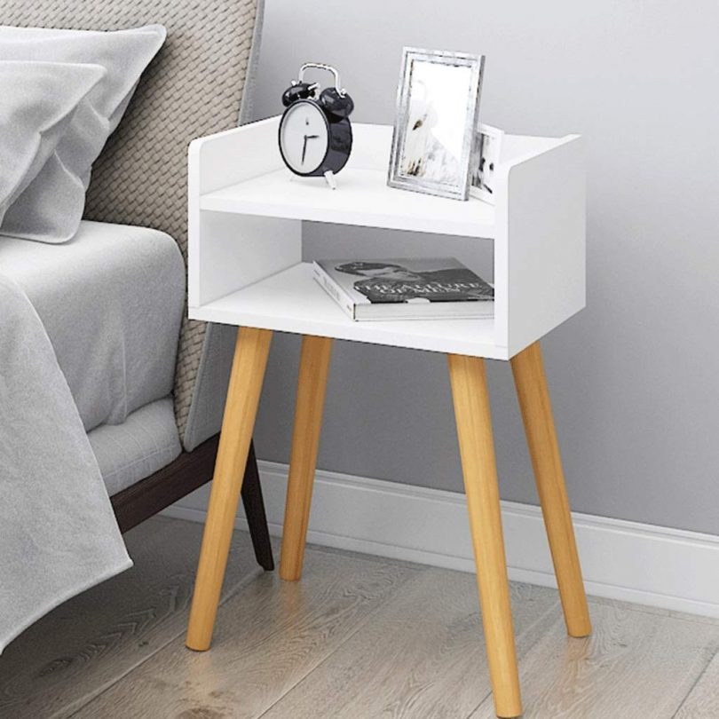 VAIY Bedside Table Simple and Modern Simple Locker Bedside Cabinet Multifunctional Storage Cabinet