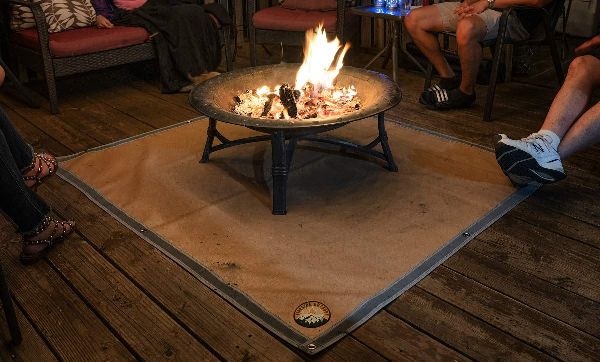 Ember Mat – Protect The Area Underneath Your BBQ Grill or Fire Pit from Grease and Popping Embers