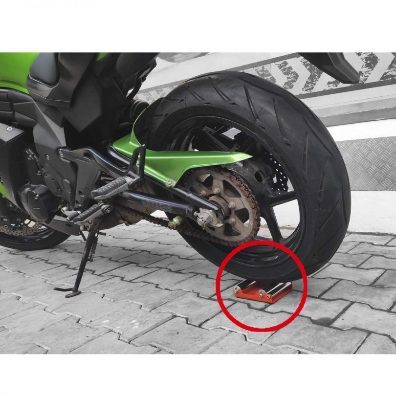 Motorcycle Wheel cleaning stand