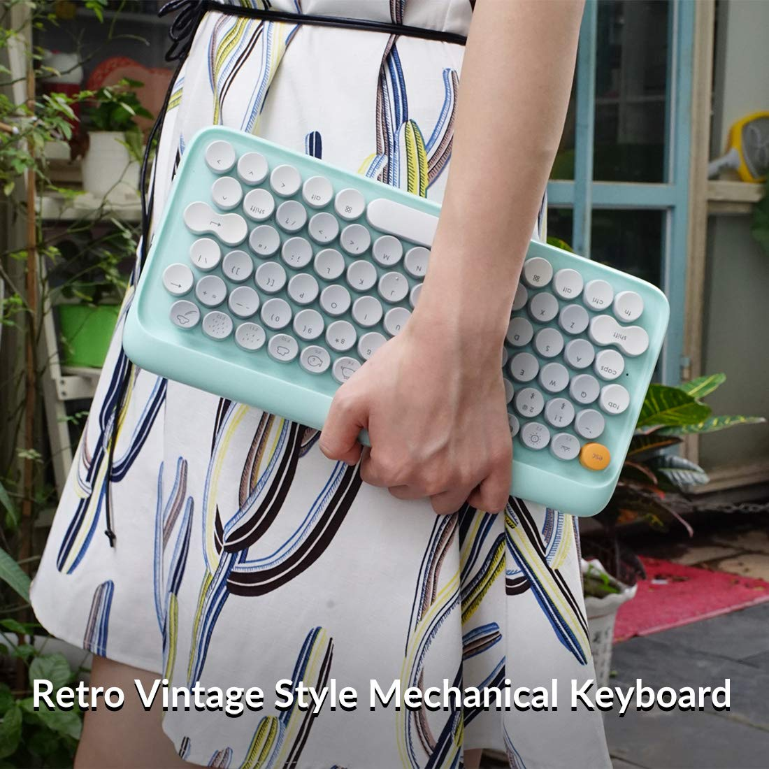 LOFREE Four Seasons Retro Vintage Mechanical Keyboard