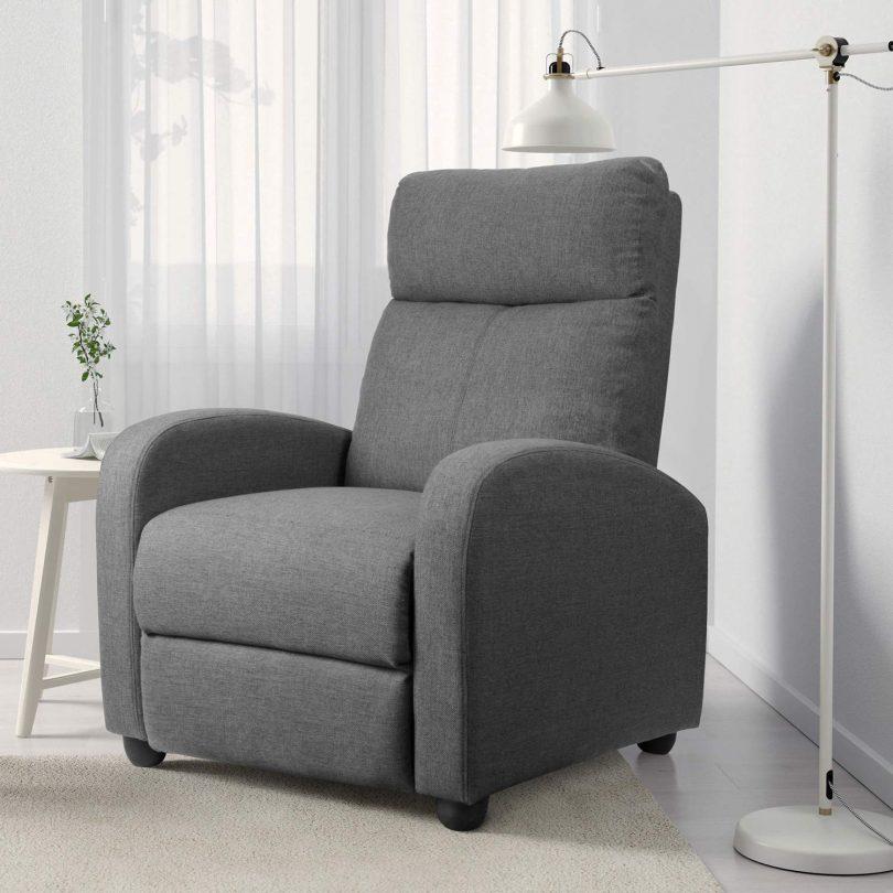 Roxy Grey Lounge Chair and Ottoman Set