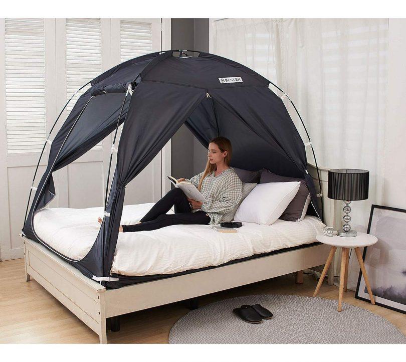 BESTEN Floorless Indoor Privacy Tent on Bed for Warm and Cozy Sleep Inside Drafty Room