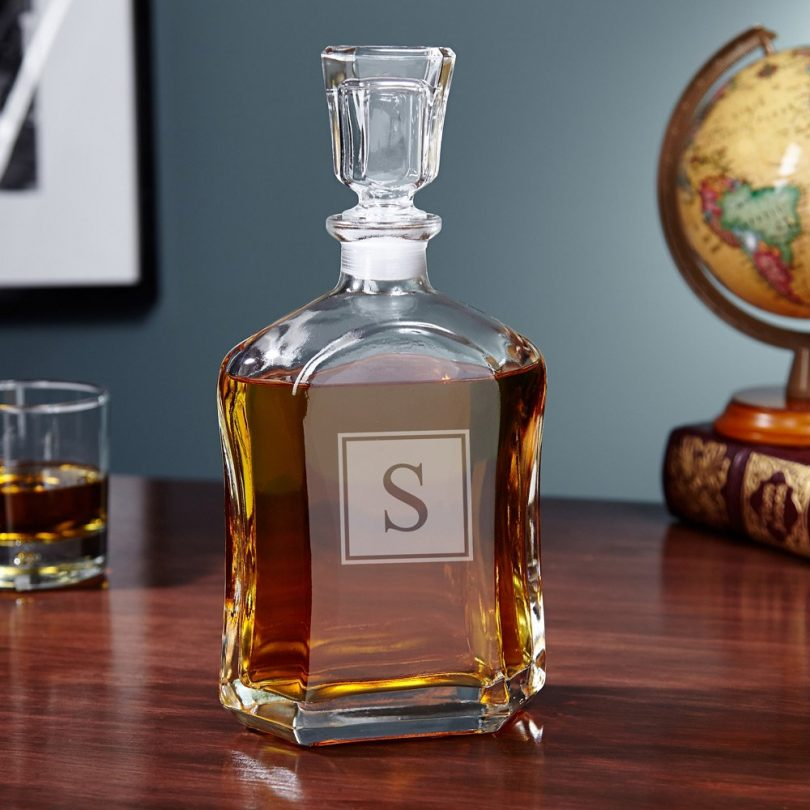 Argos Block Monogram Liquor Decanter