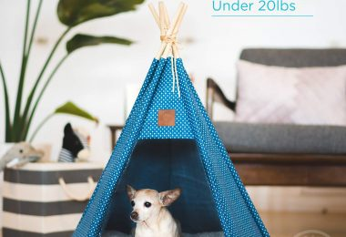 Pickle & Polly – Dog Bed Teepee/Tent for Dogs & Cats